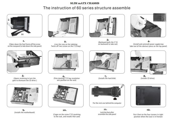 The instruction of 60 series structure assemble